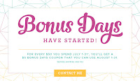 BONUS DAYS - EARN IN JULY