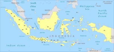 Peta & Kode Plat Nomor Polisi Kendaraan Wilayah se-Indoesia