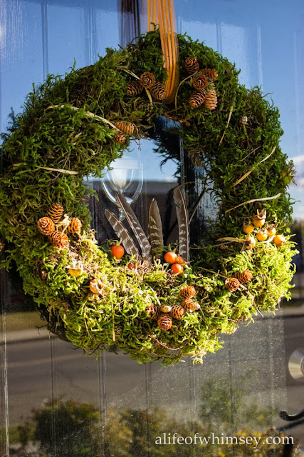 moss wreath front door