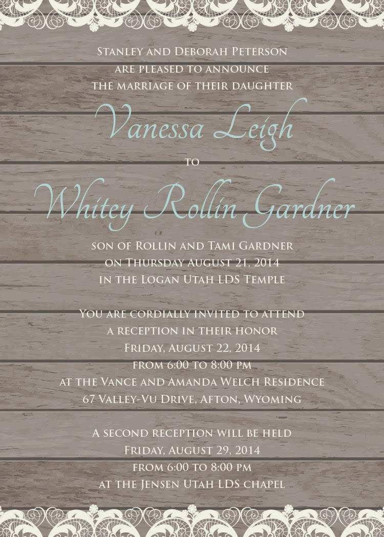 Personalized wedding invitation posted by cmor monicamarmolfo Images