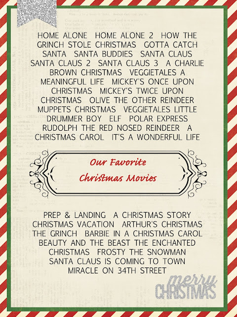 Christmas Movies List