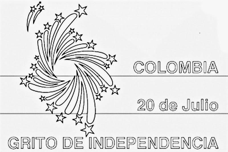 nabedin: Dibujo de la independencia de Colombia para Pintar