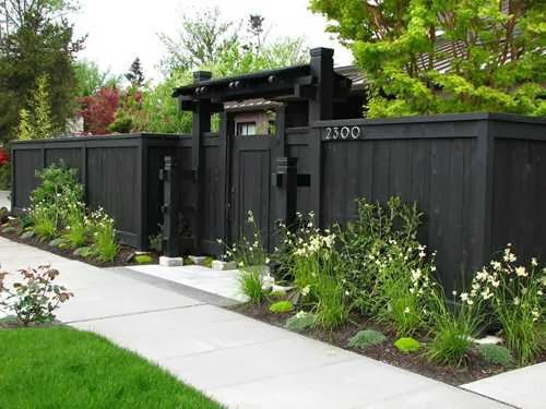 Fence Backyard Privacy : The Variety Fence Ideas for Small Backyard