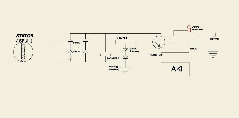 Rangkaian penyearah dc kiprok regulator sepeda motor kretips diy gambar skema rangkaian full wave dengan output tegangan 16 volt spul sudah dimodif ccuart Images