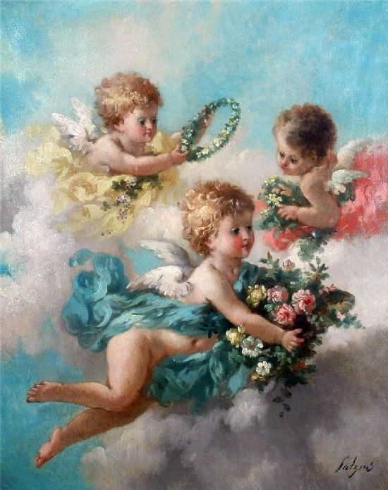 Angeli con il pennello c lutyens e i suoi putti for Quadri con angeli