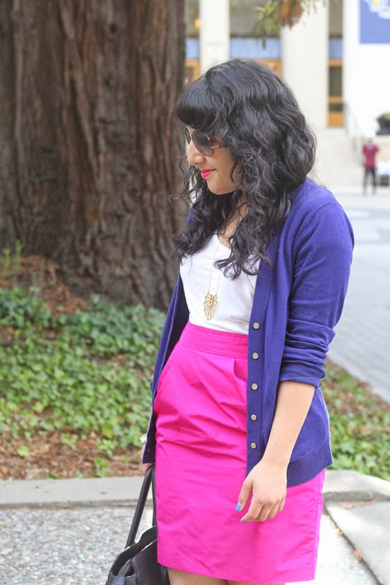 Navy and Hot Pink Outfit
