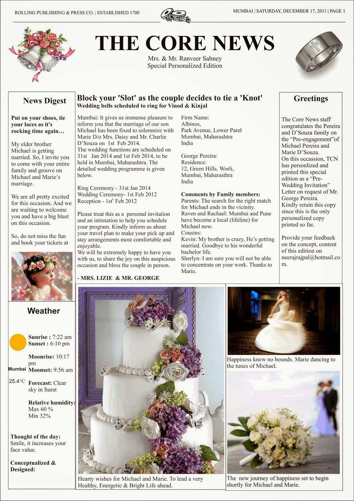 Fish Your Idea - { creative ideas }: Wedding Invitation Letter - A ...