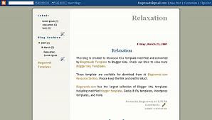 Relaxation Blogger Template
