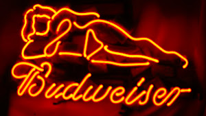 Live Nudes Budweiser Neon Sign - US$119 including shipping fee worlwide