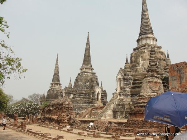 chedis at Wat Phra Sri Sanphet at Ayutthaya Historical Park in Thailand