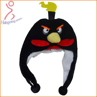 Black Space Angry Birds Hats