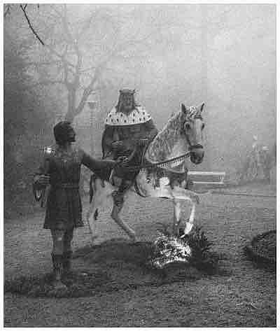Rey con paje en Belen