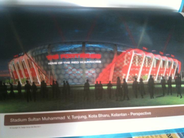 Lakaran Stadium baru Kelantan.