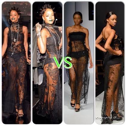 rihanna vs nigerian model