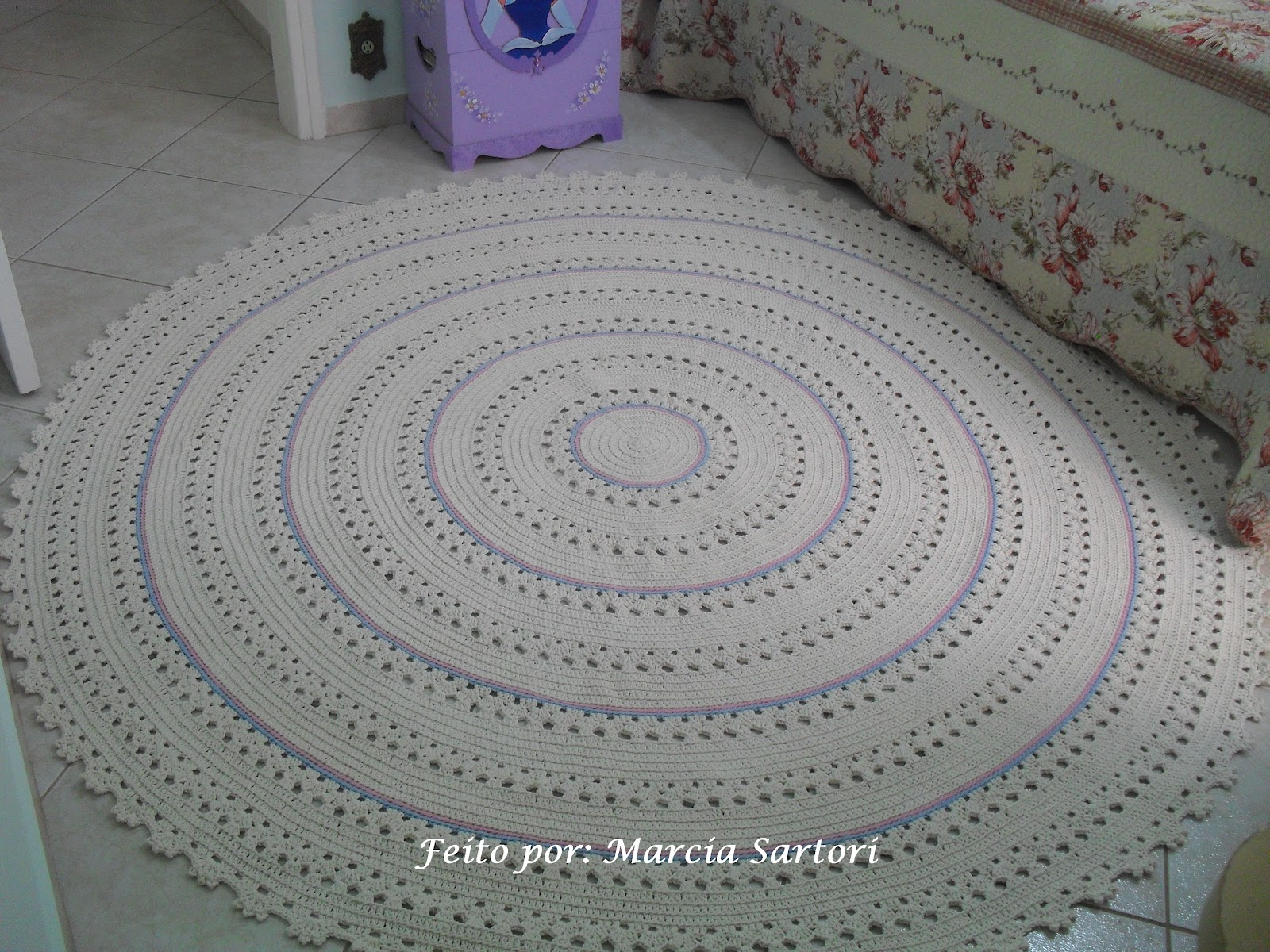 Tapete De Croche Redondo Para Quarto De Bebe Nchome Info -> Tapetes De Croche Para Sala