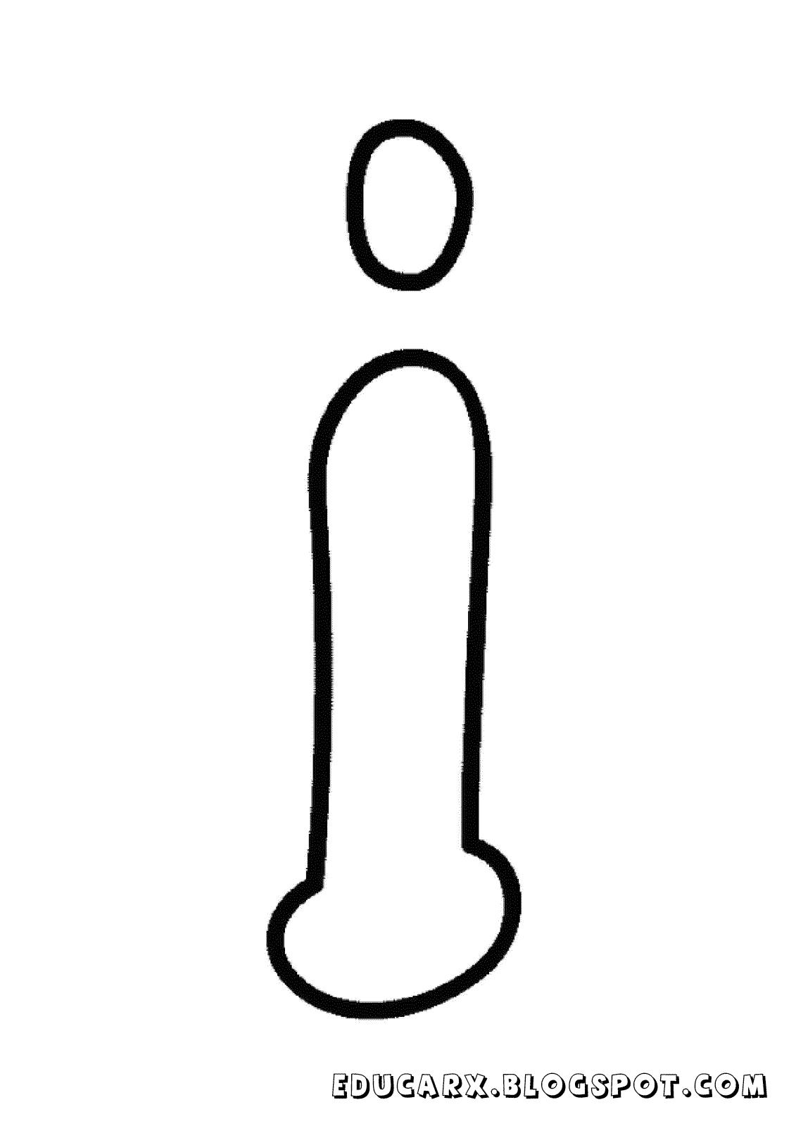 Molde da letra minuscula i