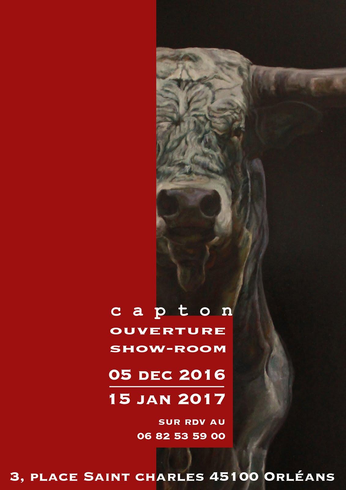 ORLÉANS : CAPTON OUVRE SON SHOW-ROOM DU 5 DÉCEMBRE 2016 AU 15 JANVIER 2017