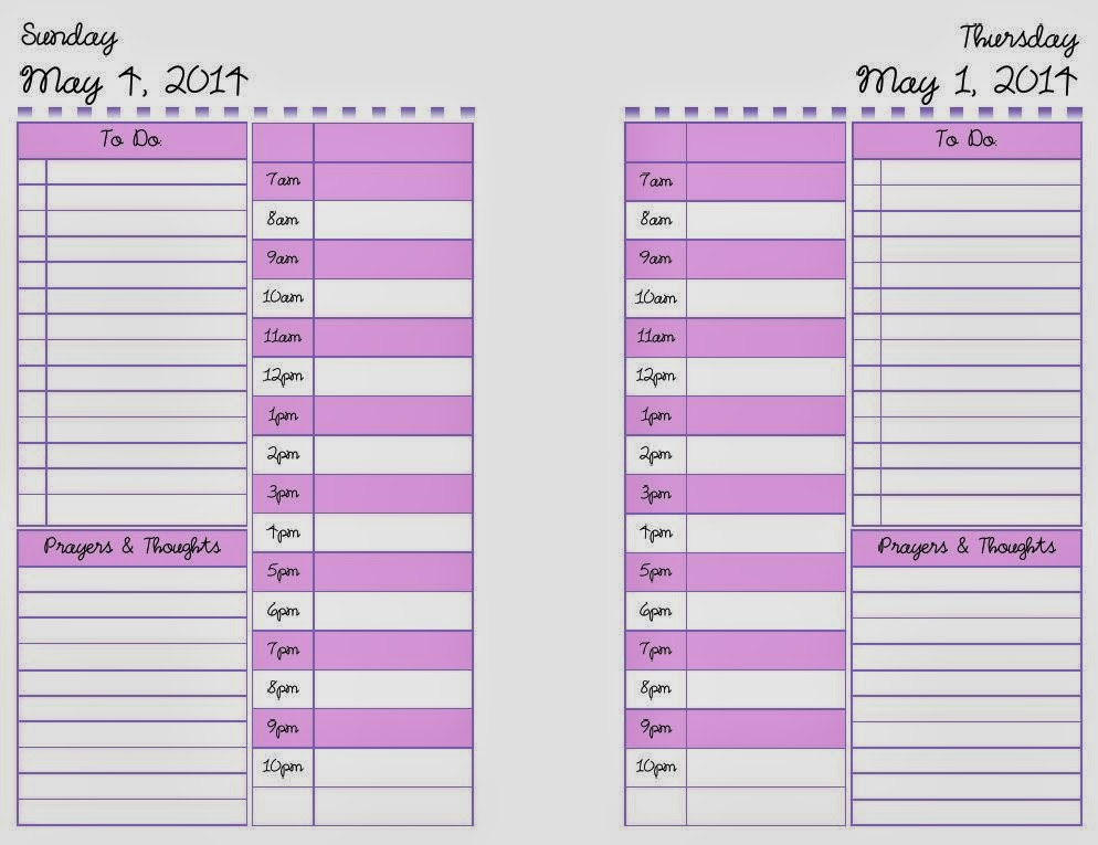 yolieville may 2014 planner pages