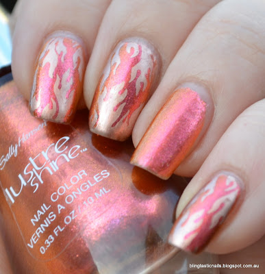 Sally Hansen Lava Shine with Flame Stamping