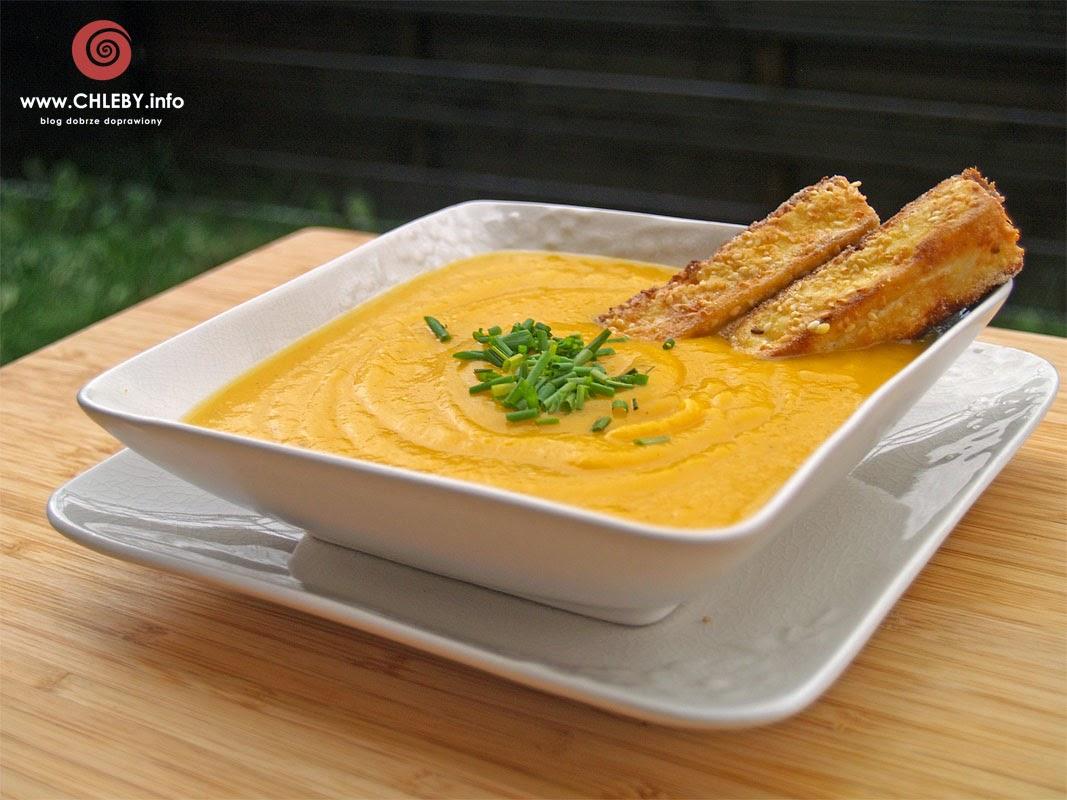Zupa krem z dyni i sera feta