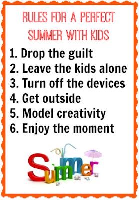 Rules for a perfect summer with kids