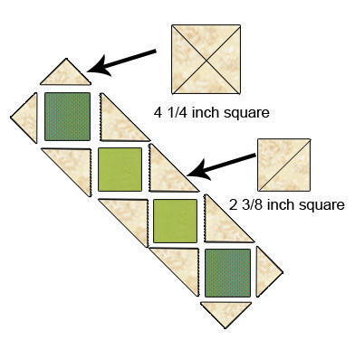 Piecing diagram