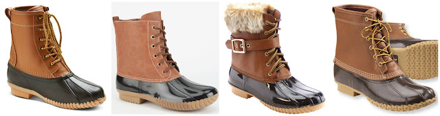 Duck boots are so popular right now, especially the popular style from L.L. Bean for $189. I found three similar styles for under $43. Can you guess which ones are the L.L. Bean boots? Click the links below to see if you are correct!