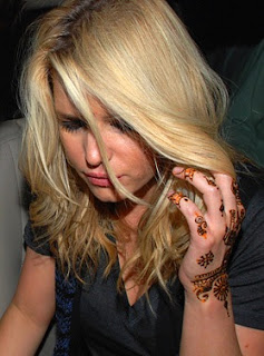 Jessica Simpson Henna Tattoos