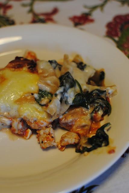 kycklinglasagne, lasagne, kyckling, recept, blogg, spenat, vardagsmat, keso