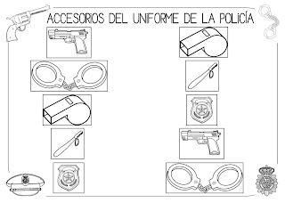 Mi grimorio escolar LOS ACCESORIOS DEL UNIFORME DE LA POLICA