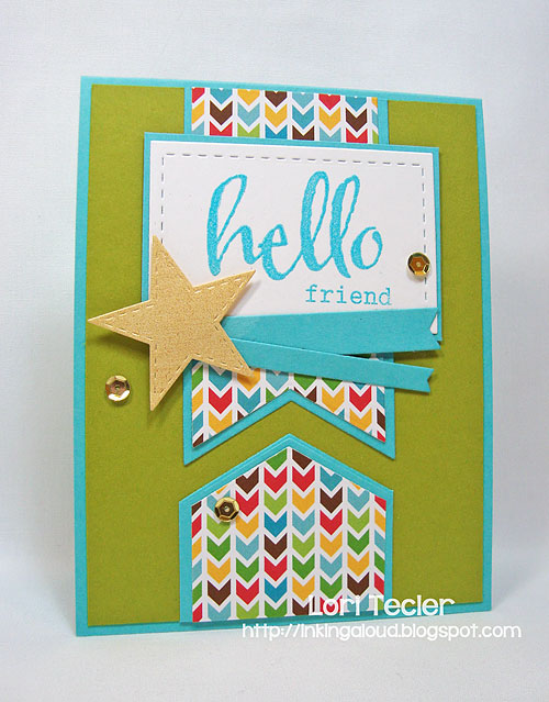 Hello Friend card-designed by Lori Tecler/Inking Aloud-stamps from Winnie & Walter