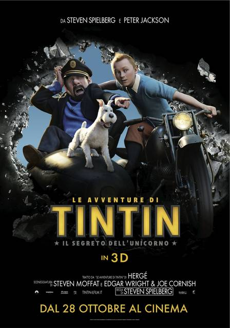 <p>Titolo originale: The Adventures of Tintin: Secret of the Unicorn Nazione: Belgio, Nuova Zelanda, USA 2011 Anno: 2011 Genere: Animazione, Azione, Avventura Durata: 107&#8242; Regia: Steven Spielberg Cast: Jamie Bell, Andy Serkis, Daniel Craig, Simon Pegg, Nick Frost, Gad Elmaleh, Tony Curran, Mackenzie Crook, Toby Jones, Daniel Mays, Sebastian Roché, Sonje Fortag, Kim Stengel, Joe [...]</p>
