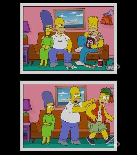 O envelhecimento da família Simpsons