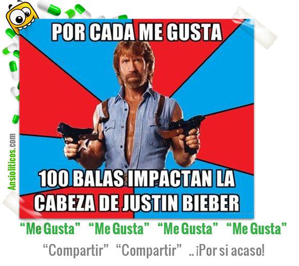 Chiste de Chuck Norris contra Justin Bieber