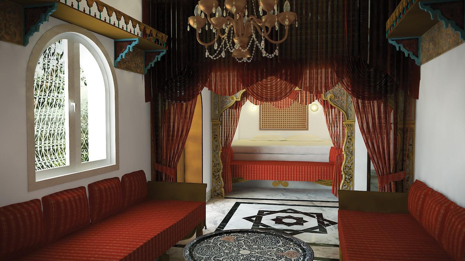 Intérieur d\'un bungalow d\'hôtel | Portfolio