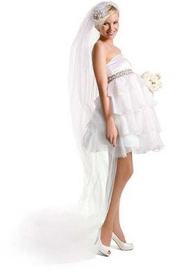 vestido de noiva curto para gravida