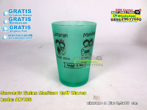 Souvenir Gelas Medium Doff Warna jual