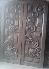 porta trabalhada em arco c/batente
