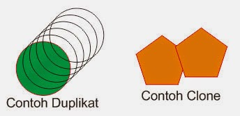 Contoh dan Perbedaan Duplicate dan Clone pada CorelDraw