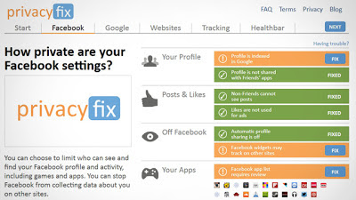 Mantendo sua privacidade virtual com o Privacyfix