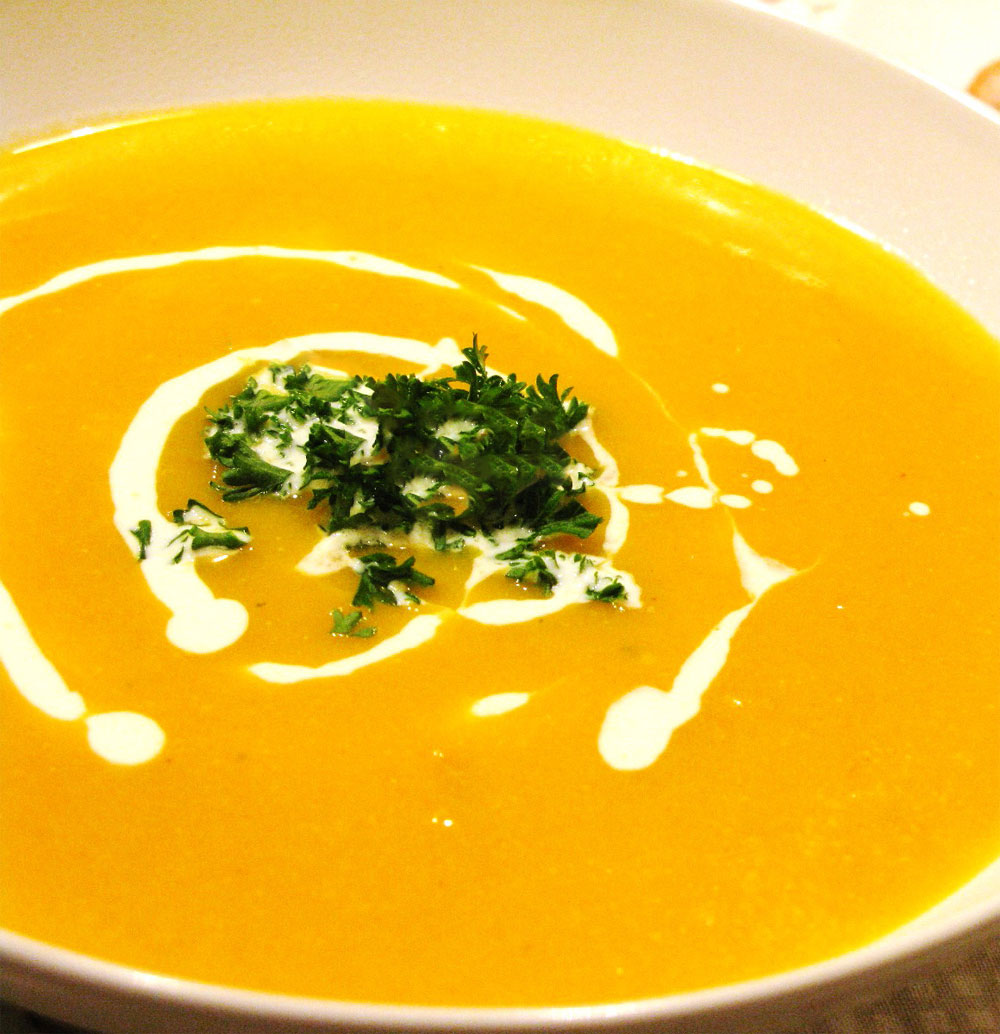 Овощной суп с тыквой рецепт