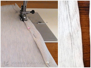 DIY Sarung Bantal dari Kaos Bekas
