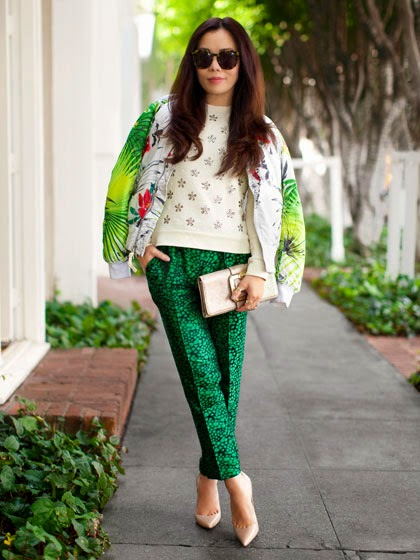 Designed And Tropical Printed Outfit