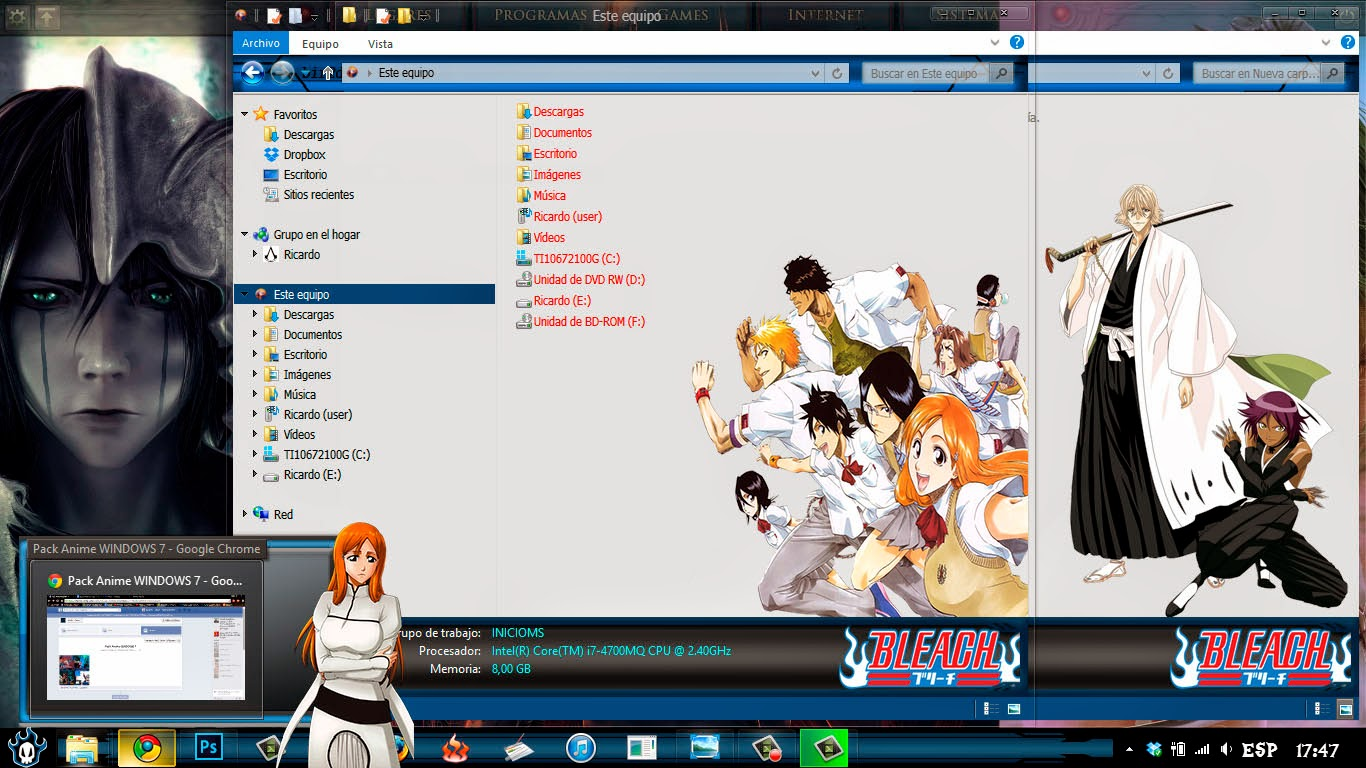 [ Theme Win 8 ] Bleach 3