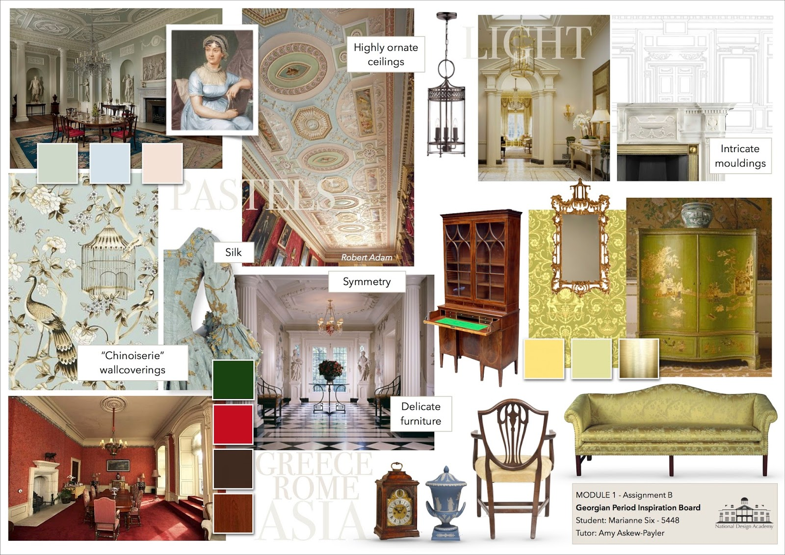 This Is An Inspiration Board I Did About The Georgian Period Love Style Also Because It Blends Beautifully With More Contemporary Designs
