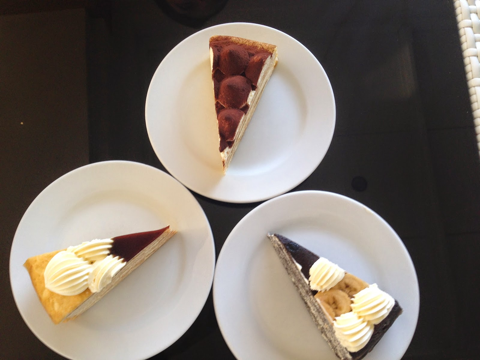 Mille Crepe, Tiramisu, Banana Chocolate, brown sugar melaka , Nadeje at Plaza Mahkota, @www.lifefoodcoffee.com