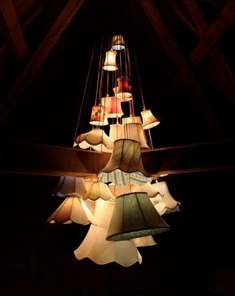 26 shade cluster chandelier by James Plumb