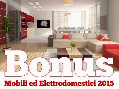 Bonus fiscali arredamento ed elettrodomestici 2015 l for Bonus arredi agenzia entrate