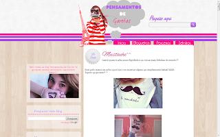 template blog pensamentos de garotas sweet templates personalização