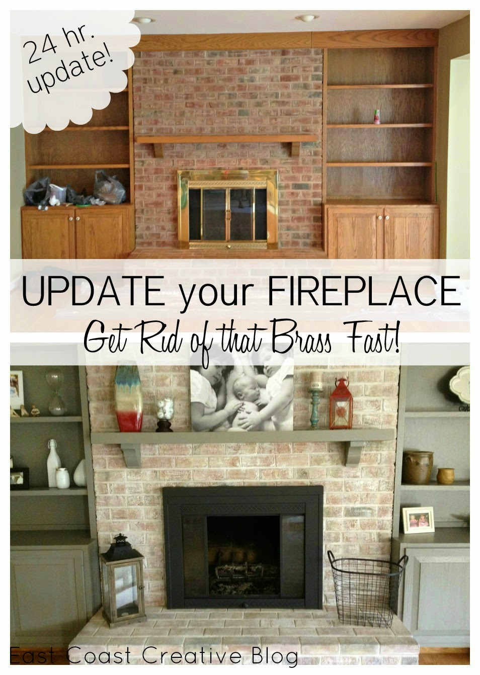 Fireplace Update DIY